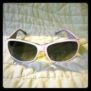 White Coach sunglasses with case & cleaning cloth